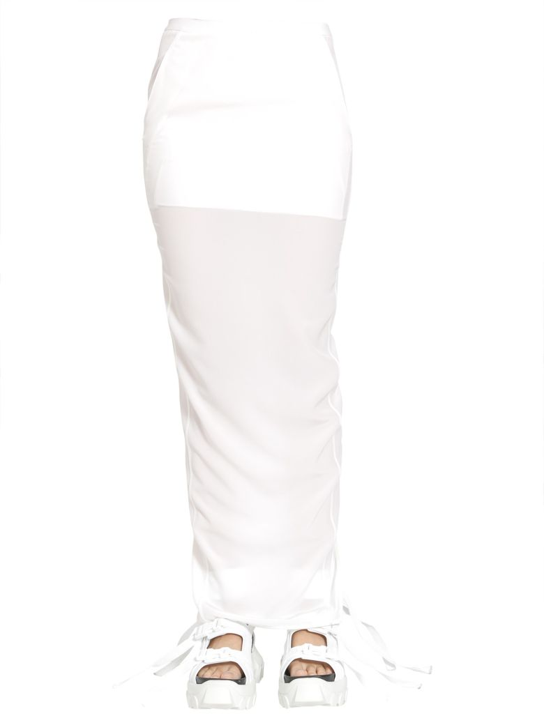 Rick Owens Pull On Pillar Skirt - BIANCO