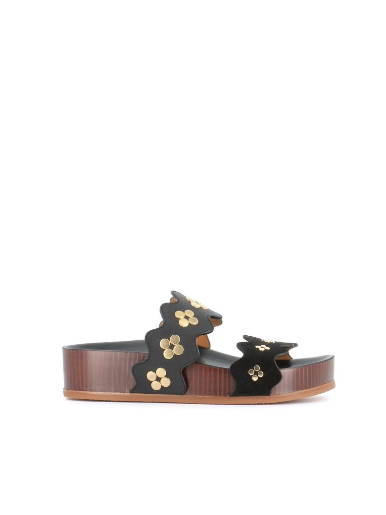 "Chloé ""lauren"" Wedge Sandals - Black"