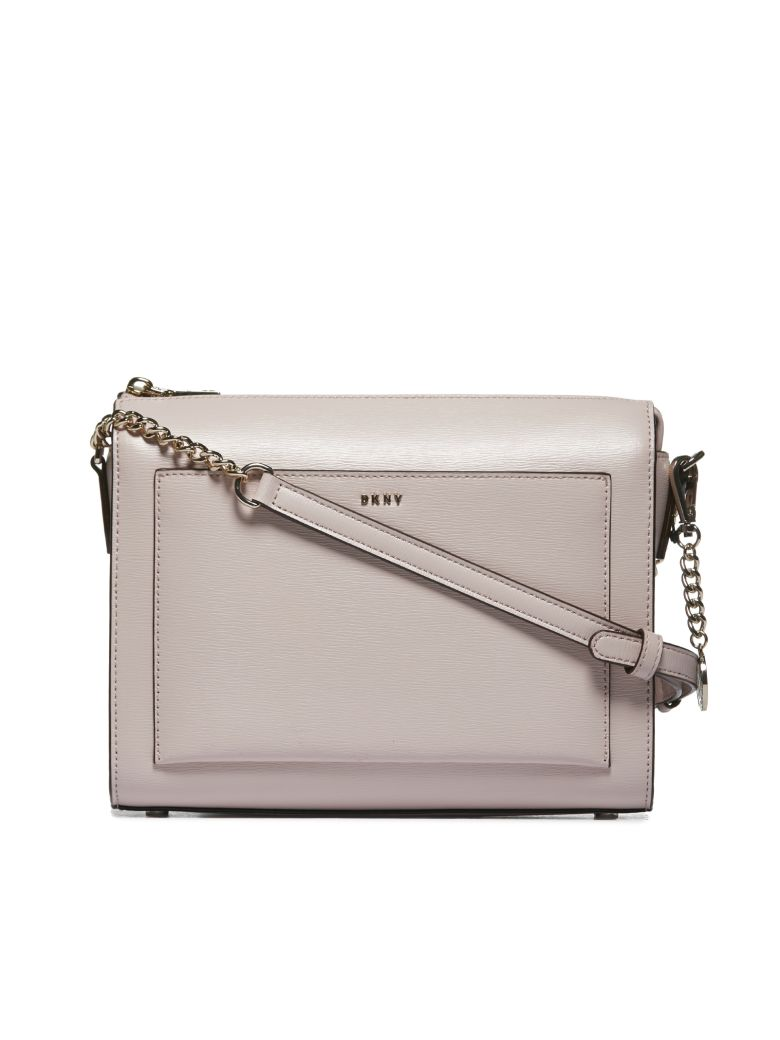 DKNY Structured Design Shoulder Bag - Rosa