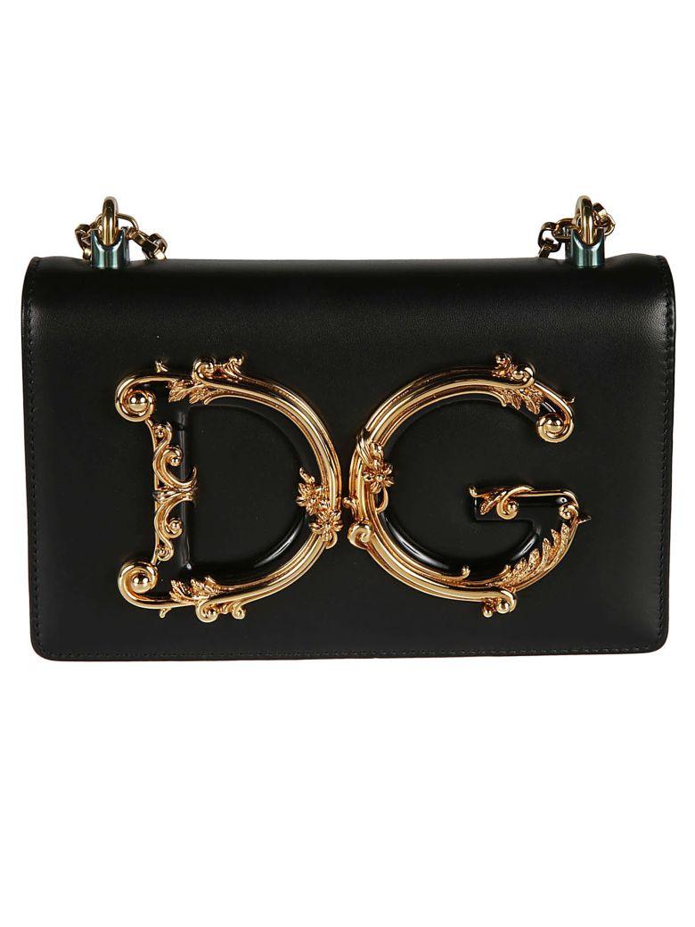 Dolce & Gabbana Dg Plaque Shoulder Bag - Black
