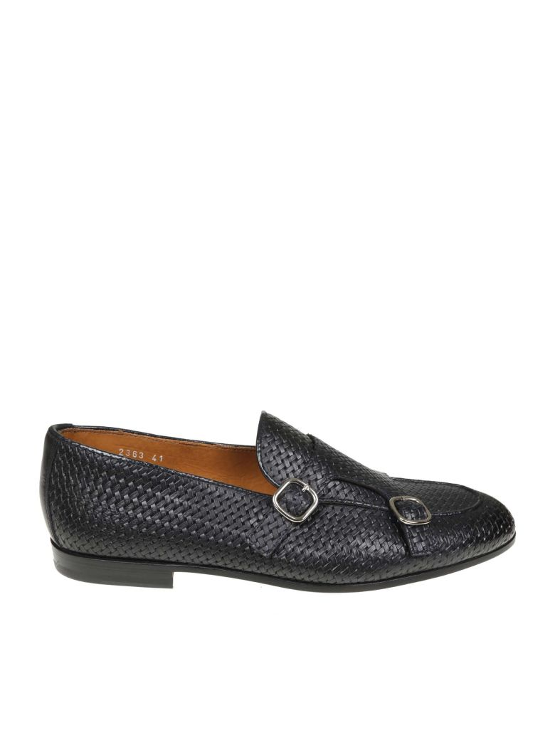 Doucal's Blue Woven Leather Loafer - BLUE