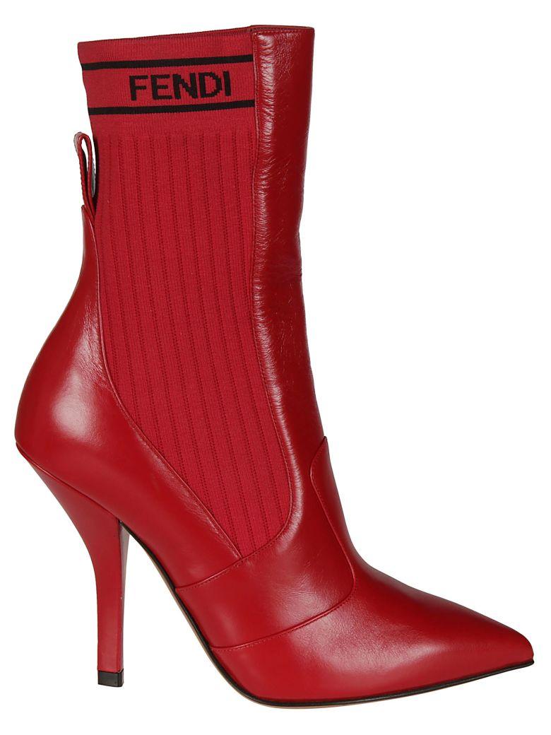 Fendi Rockoko Boots - strawberry red