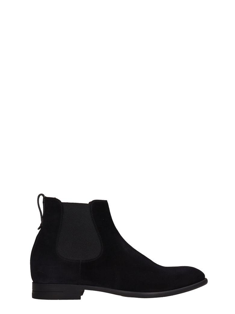 Ermenegildo Zegna Black Suede Boots - black