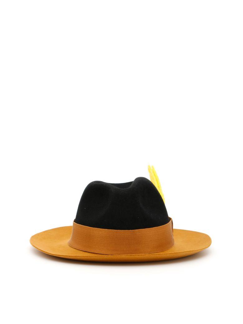 Ruslan Baginskiy Felt Hat - BALCK/MUSTARD (Black)