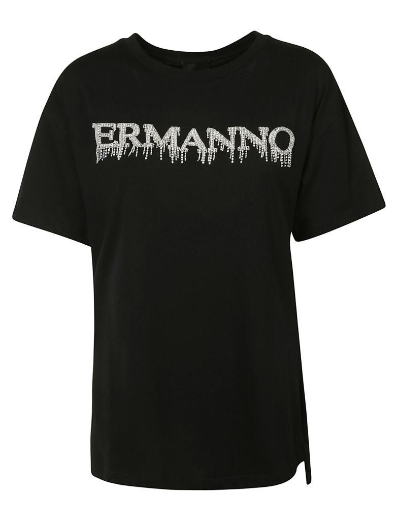 Ermanno Scervino Chest Logo T-shirt - Black
