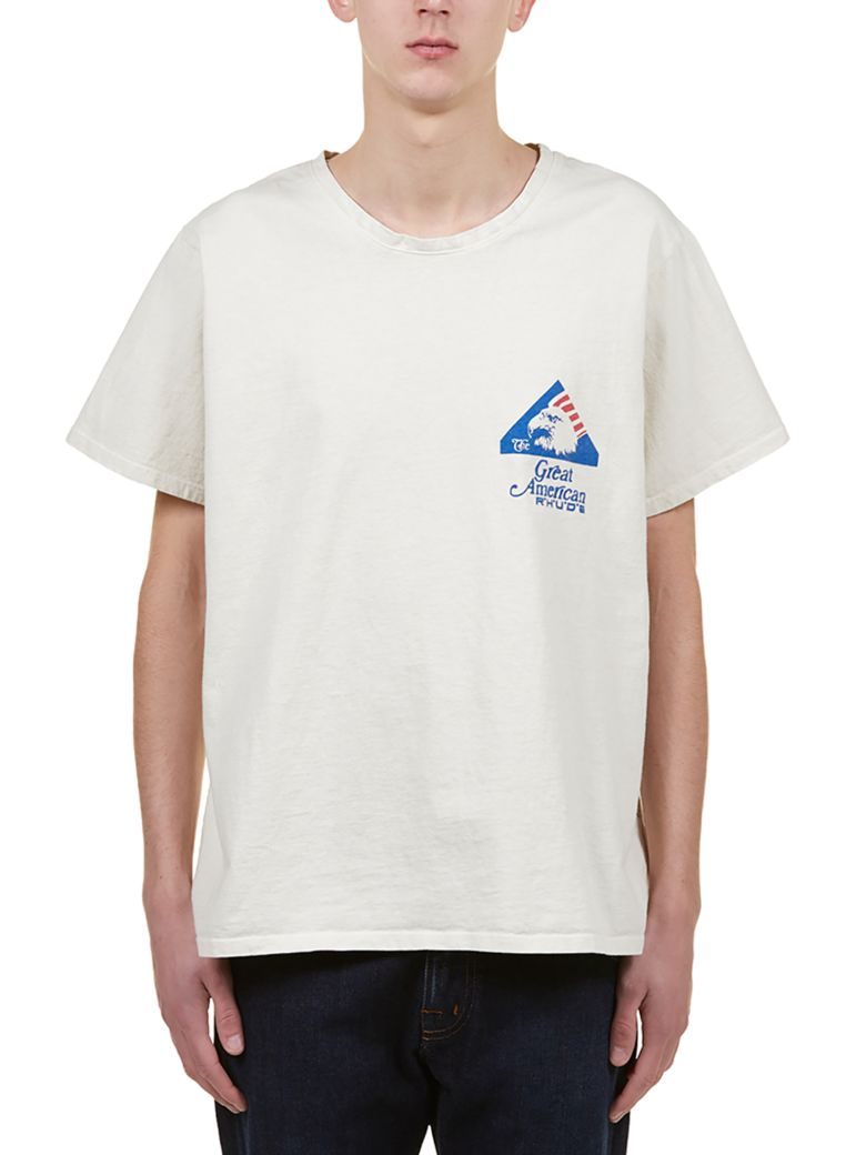Rhude Short Sleeve T-Shirt - Ecru bluette
