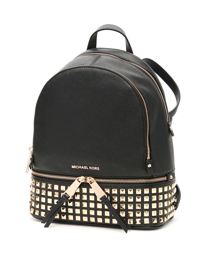 MICHAEL Michael Kors Studded Rhea Backpack - BLACK (Black)