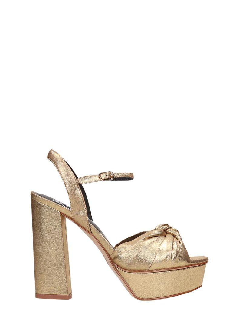 Bibi Lou Plateau Bronze  Calf Leather Sandals - Basic