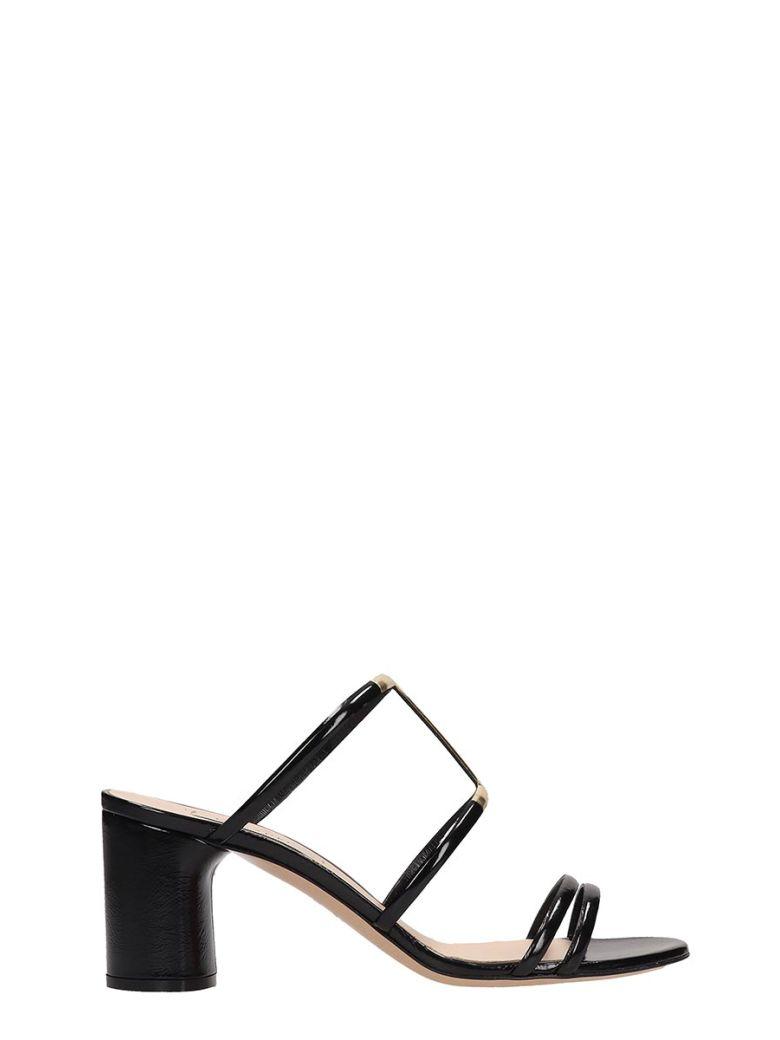 Casadei Black Patent Leather Sandals H - Black