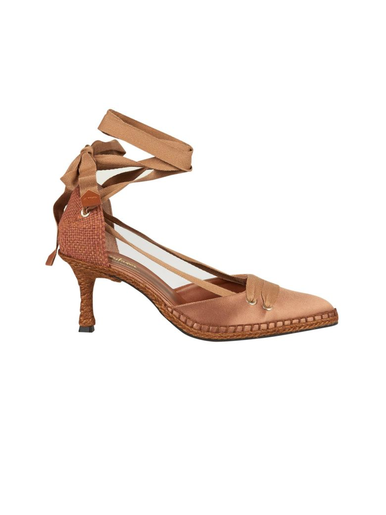 Castañer by Manolo Blahnik Castaner Medium High Heel Sandals - Brown