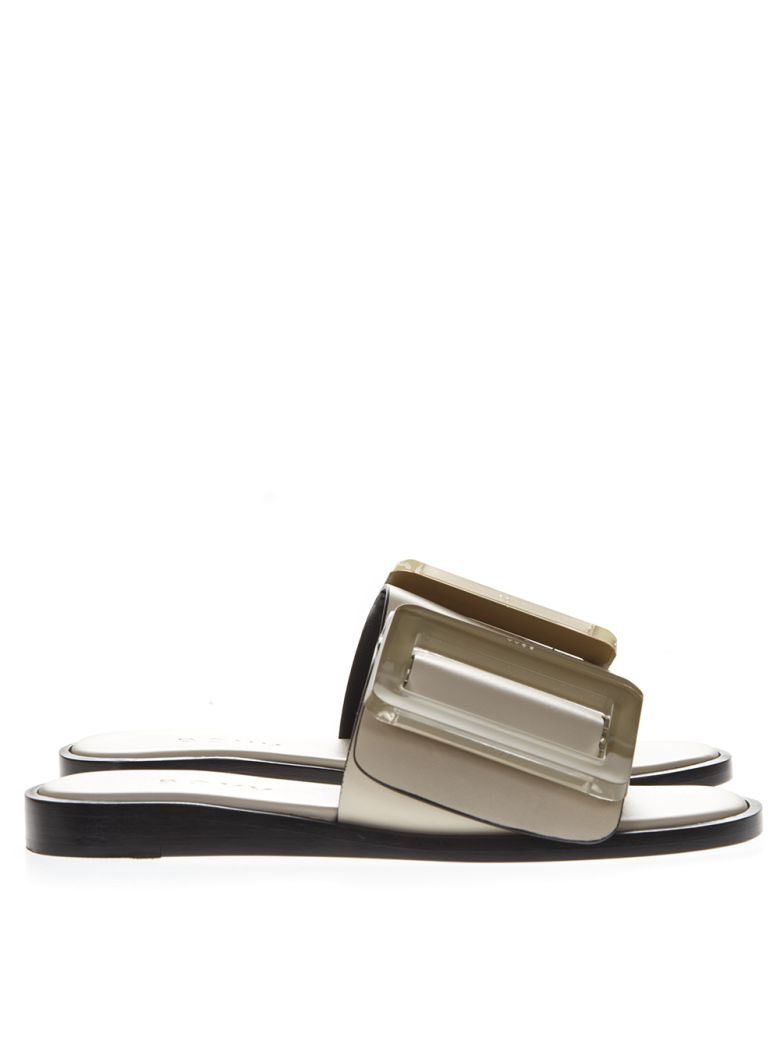 BOYY Birch Ecru Leather Sandals - Ecru