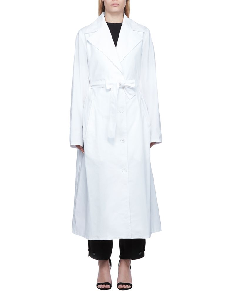 MM6 Maison Margiela Belted Long Coat - Bianco