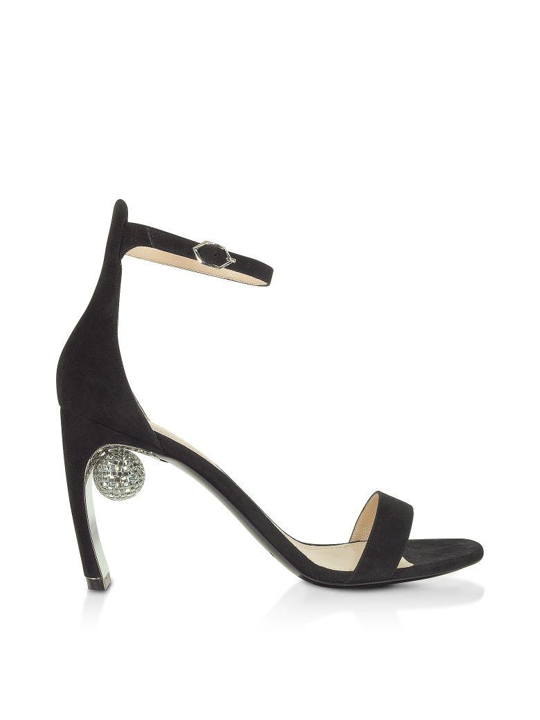Nicholas Kirkwood Black 90mm Maeva Sandals - Black