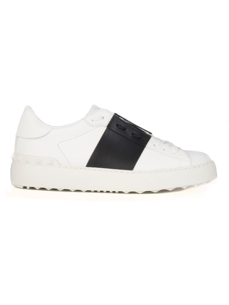 Valentino Open Sneakers - White Black