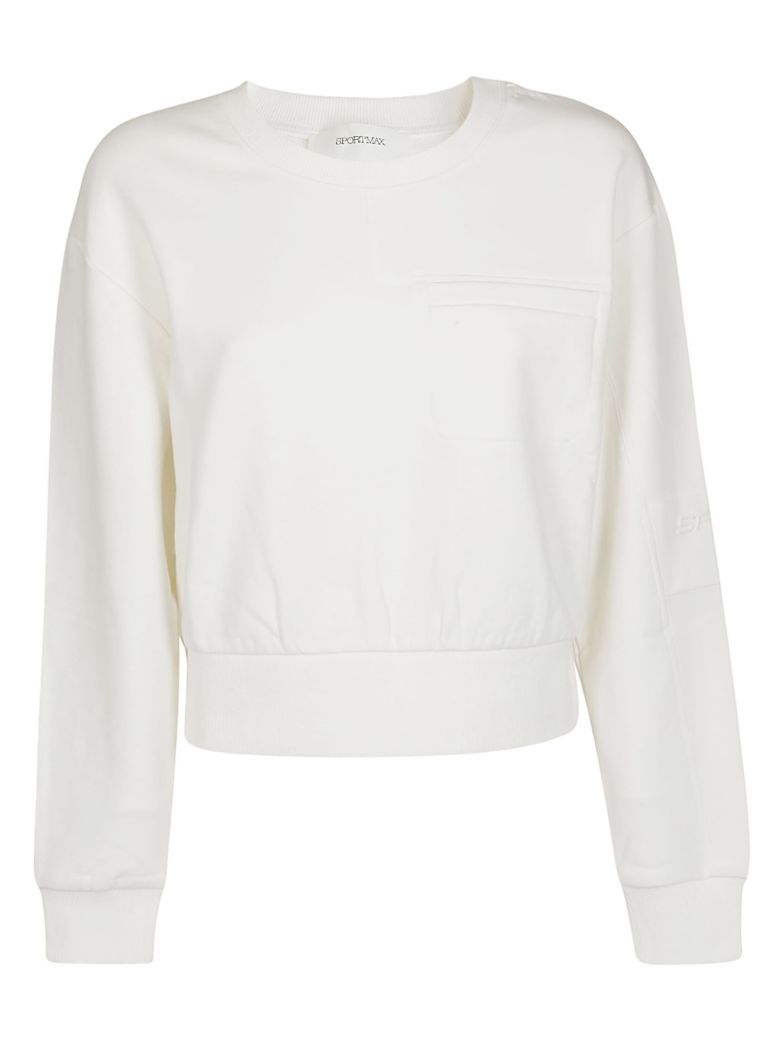 SportMax Cropped Sweatshirt - White
