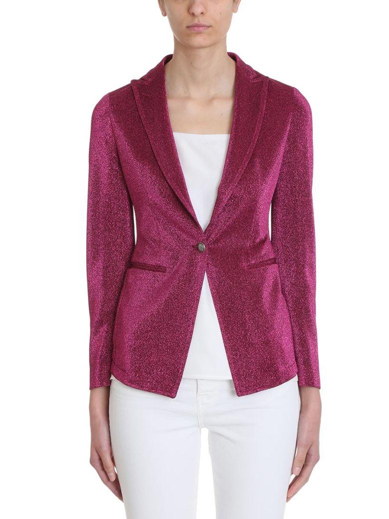 Tagliatore 0205 Gilda Fucsia Lurex Blazer - Purple