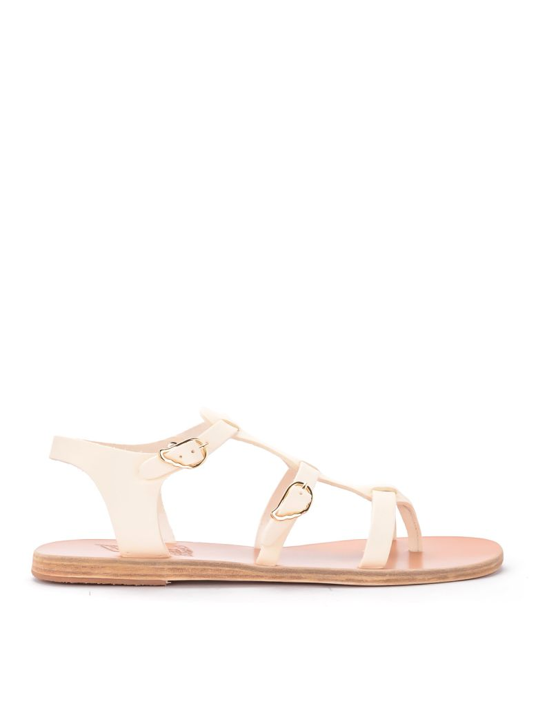 Ancient Greek Sandals Ancient Greek Grace Kelly Ivory Leather Sandal - BIANCO