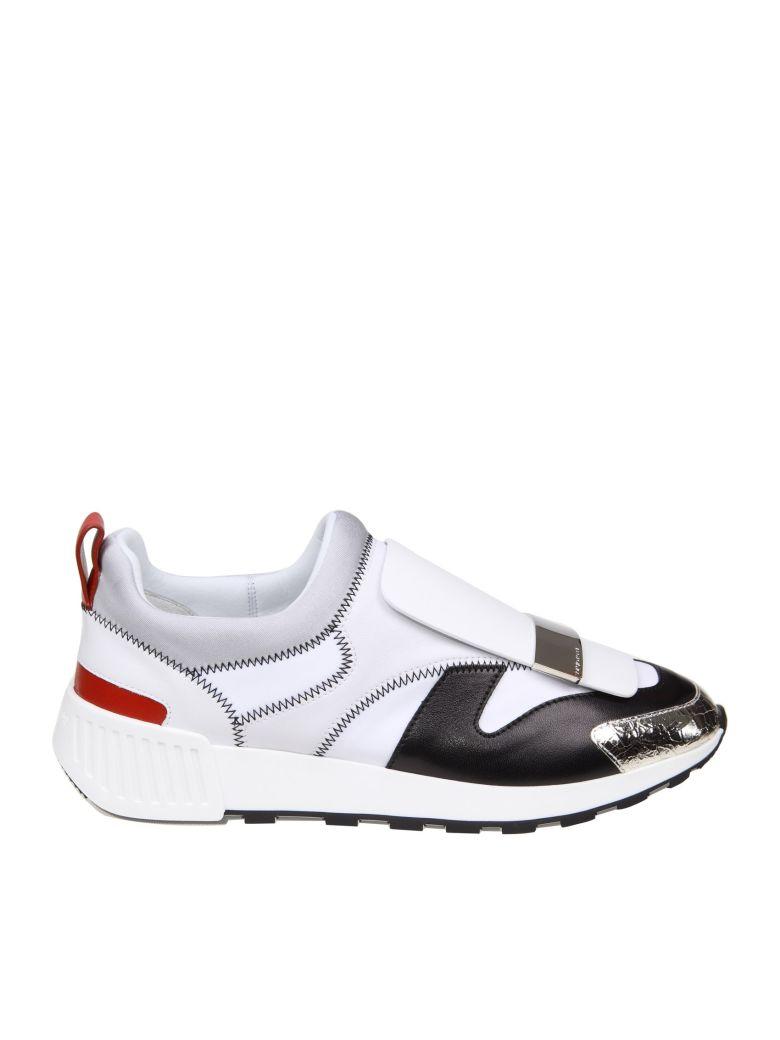 Sergio Rossi Sneakers Sr1 Leather And Fabric White Color - Multicolor