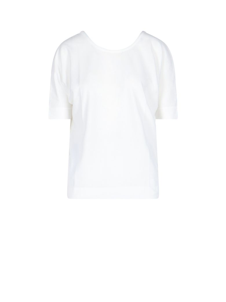 Zanone Rear V-neck T-shirt - White