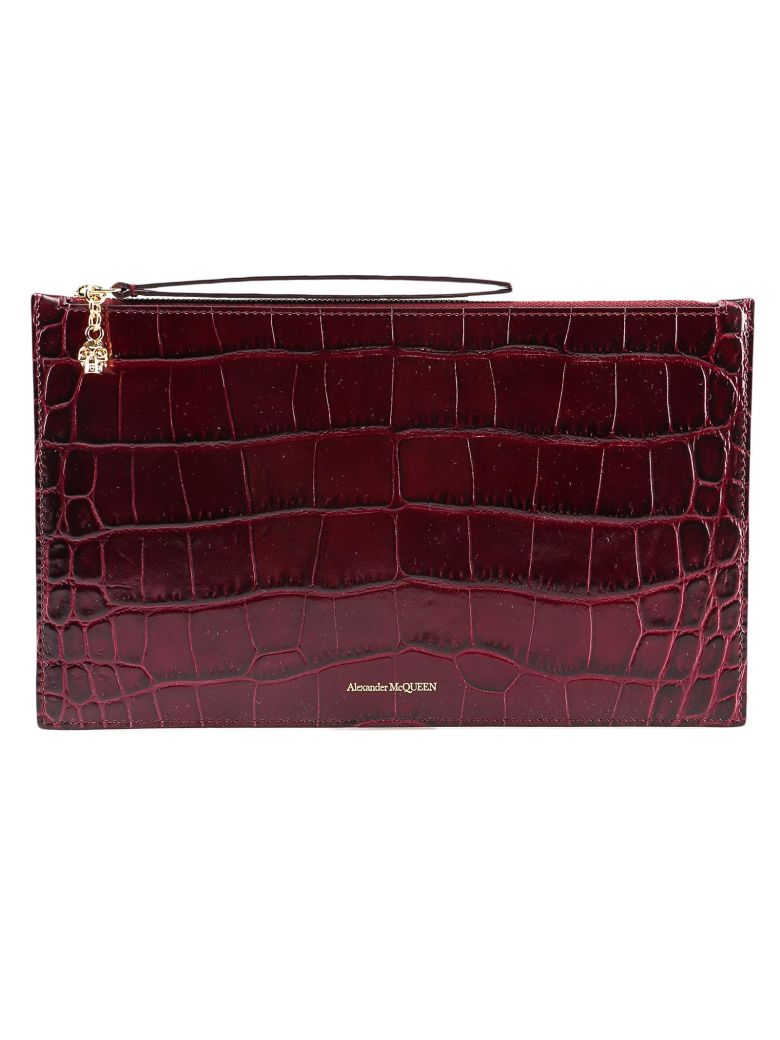 Alexander McQueen Zip Tech Pouch - Velvet Red