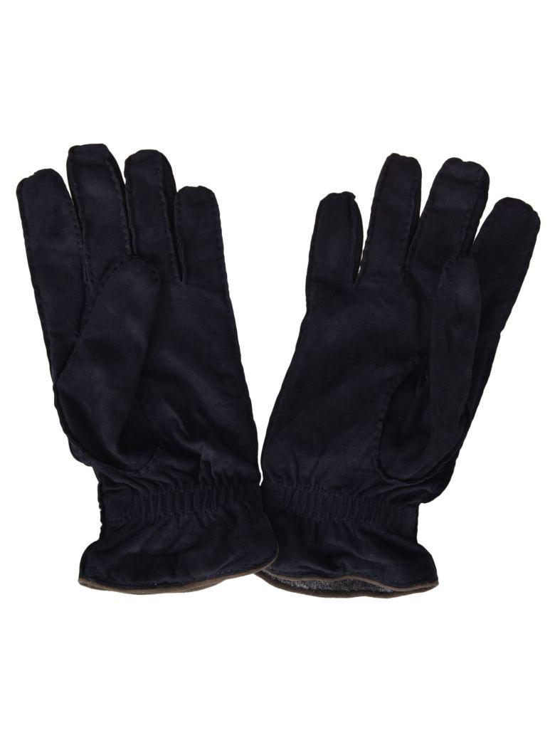 Fedeli Stitched Gloves - Blue