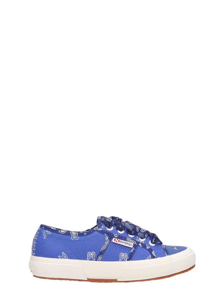 Alanui Superga X Alanui Collaboration Blue Canvas Sneakers - blue