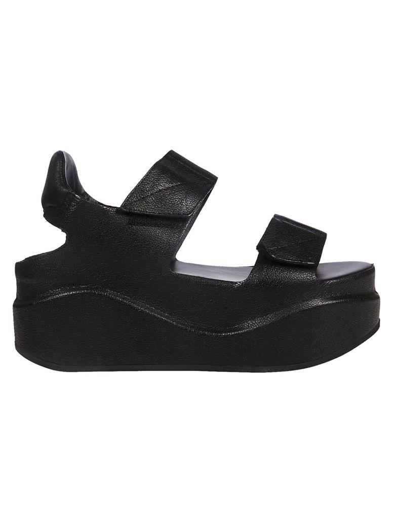 Roberto del Carlo Touch Strap Platform Sandals - Black