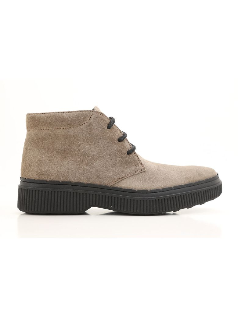 Tod's 39a Nubuck Lace-up Ankle Boots - Basic