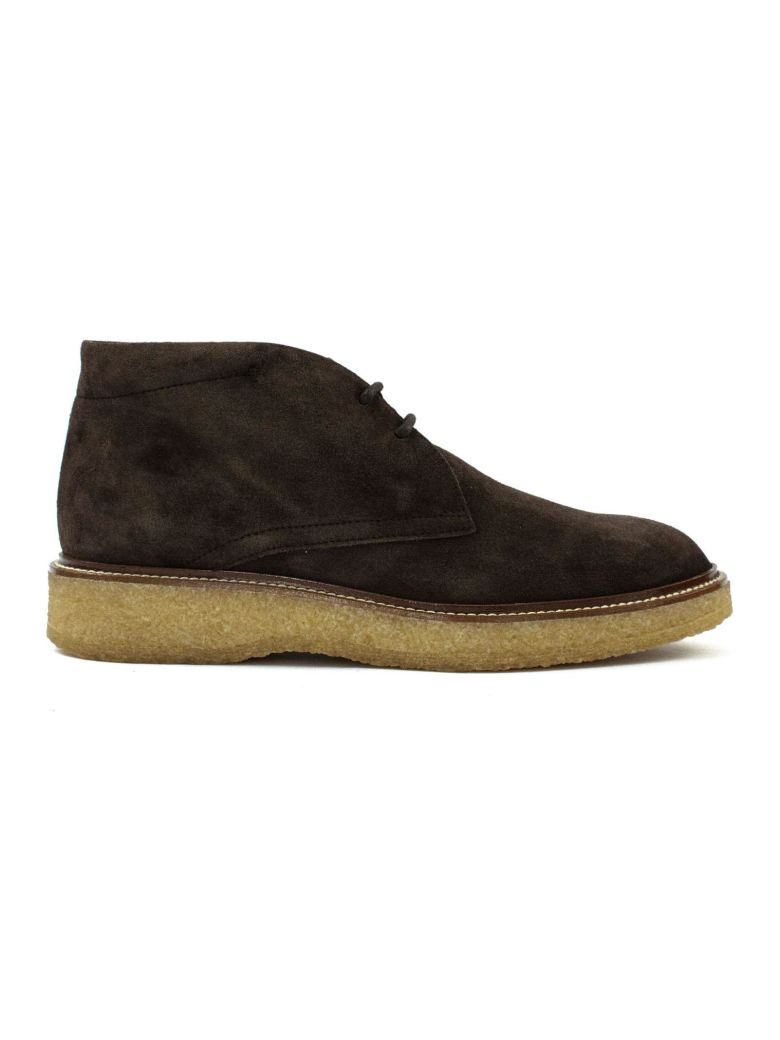 Tod's Desert Boots In Brown Suede. - Tabacco