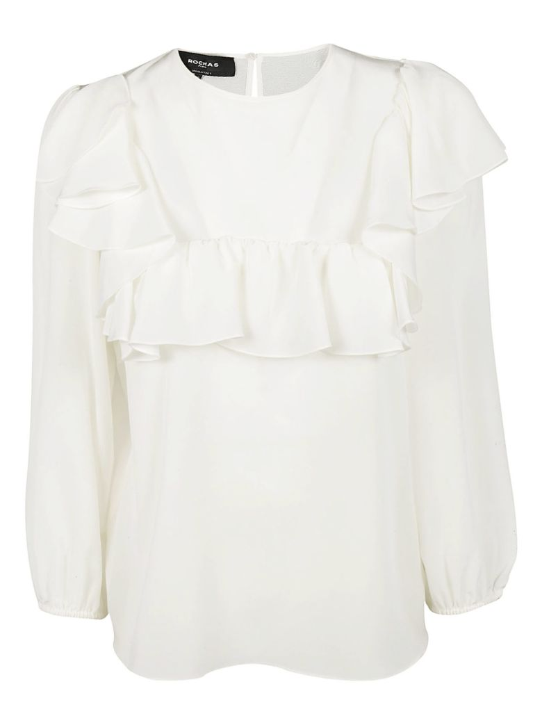 Rochas Frilled Blouse - Ivory