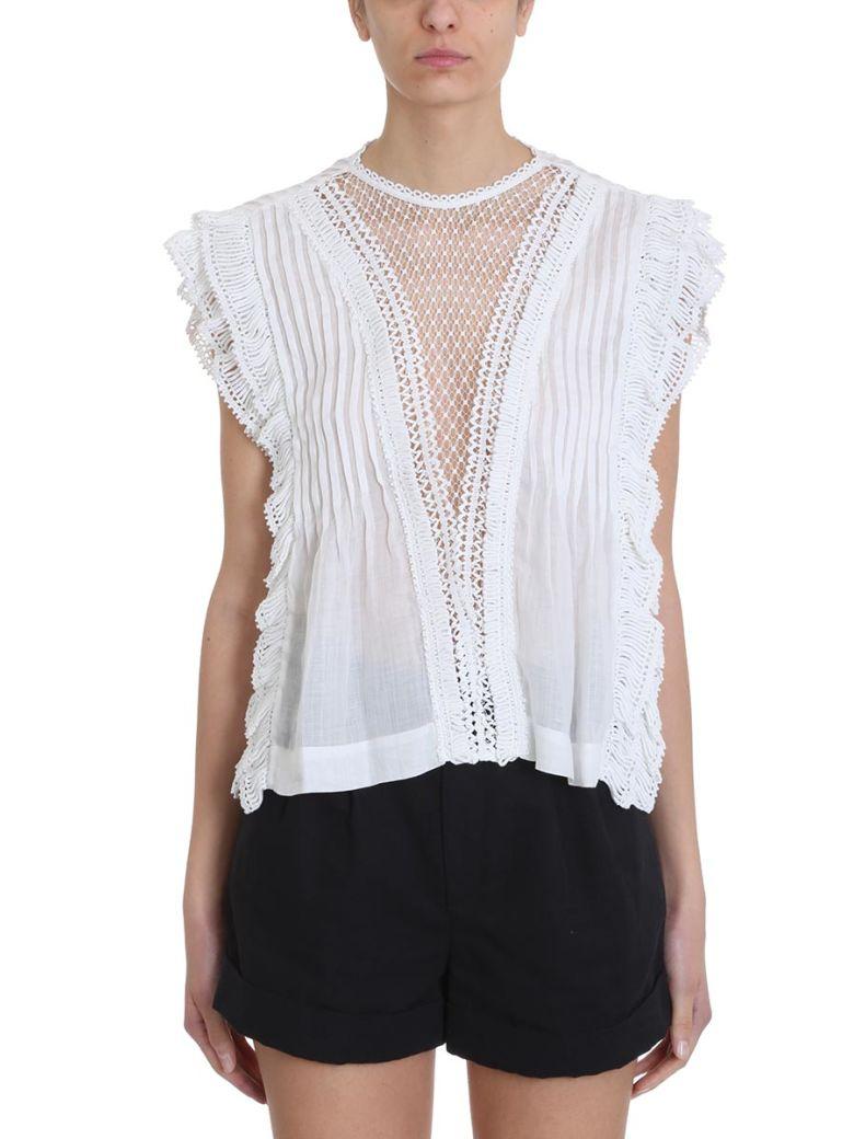 Isabel Marant Roya Woven Style Vest Top - white