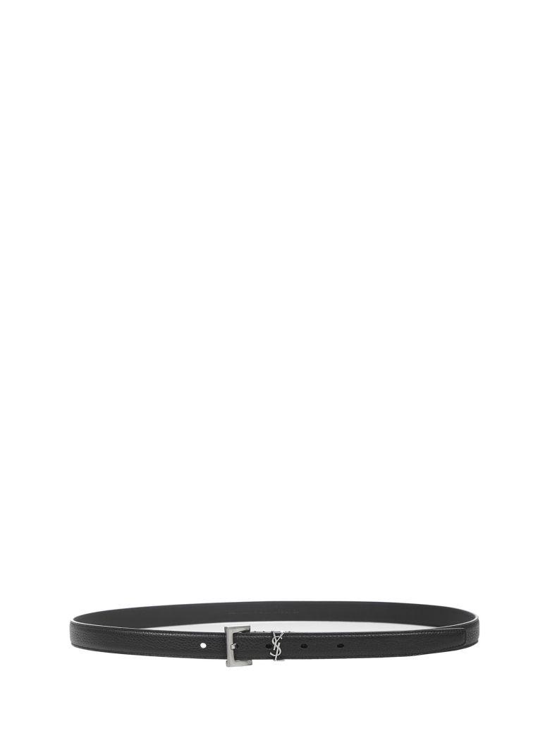 Saint Laurent Monogram Belt - Black