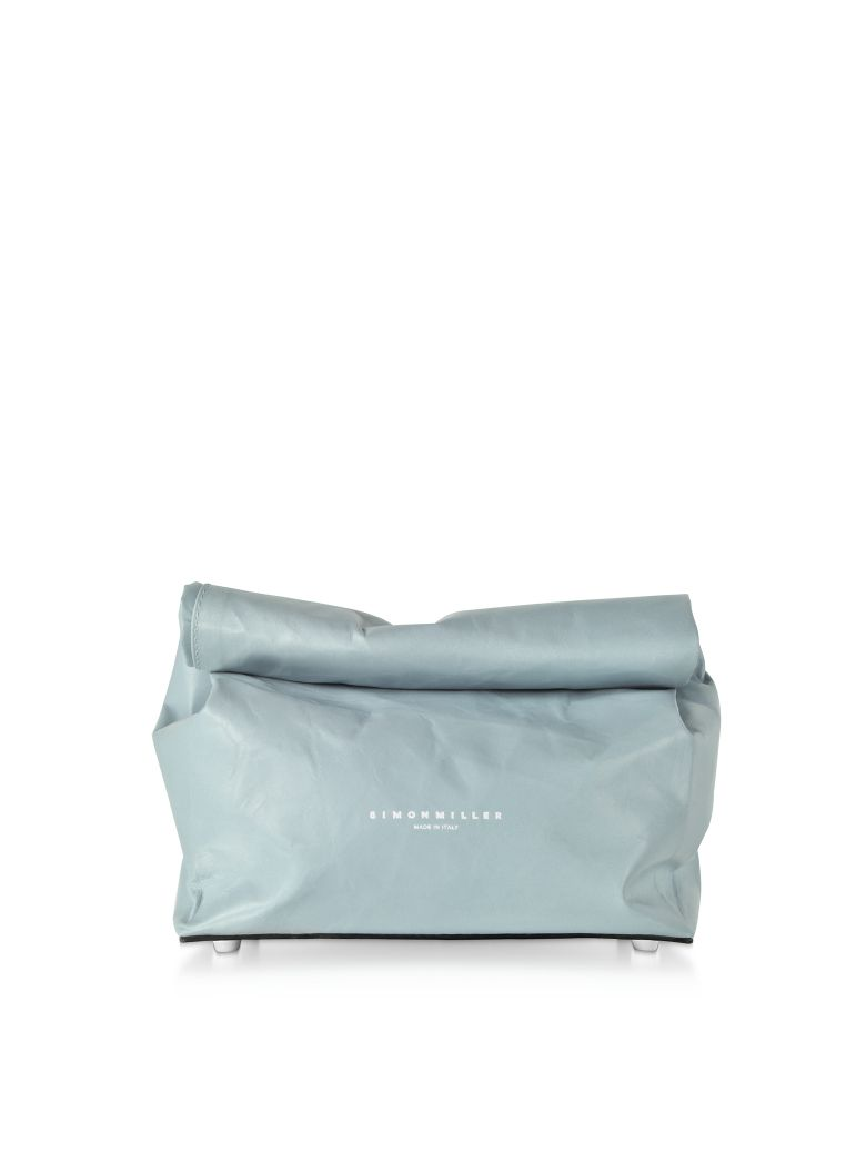 Simon Miller S809 Leather 20 Cm Lunch Bag - Petrol