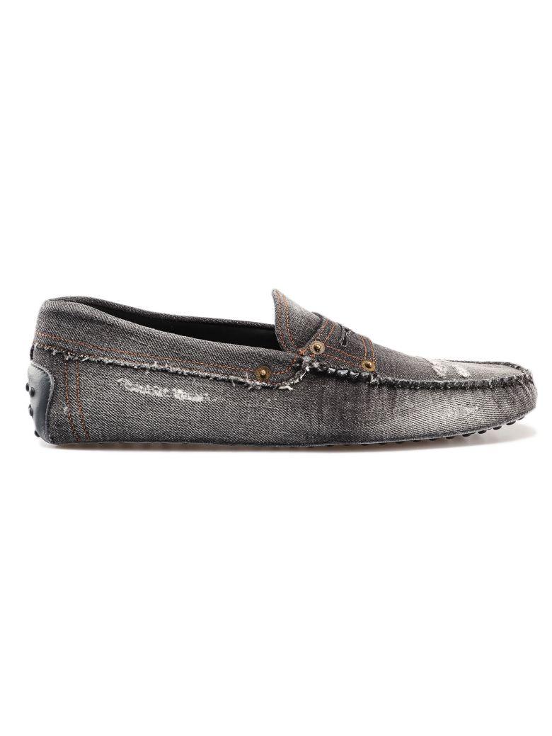 Tod's Denim Loafers - Hematite