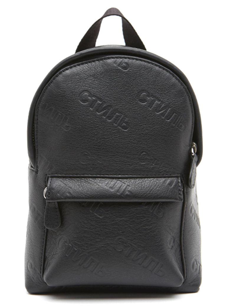 HERON PRESTON 'stnmb' Bag - Black