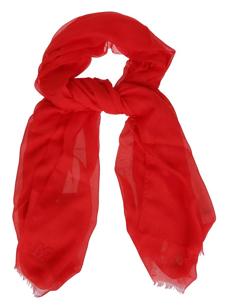 M Missoni Embroidered Scarf - Red