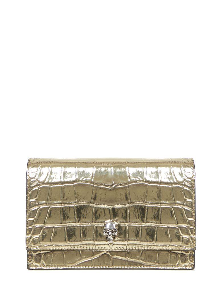 Alexander McQueen Skull Clutch - Gold