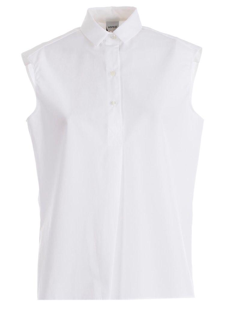 Aspesi Sleeveless Shirt - Bianco Ott