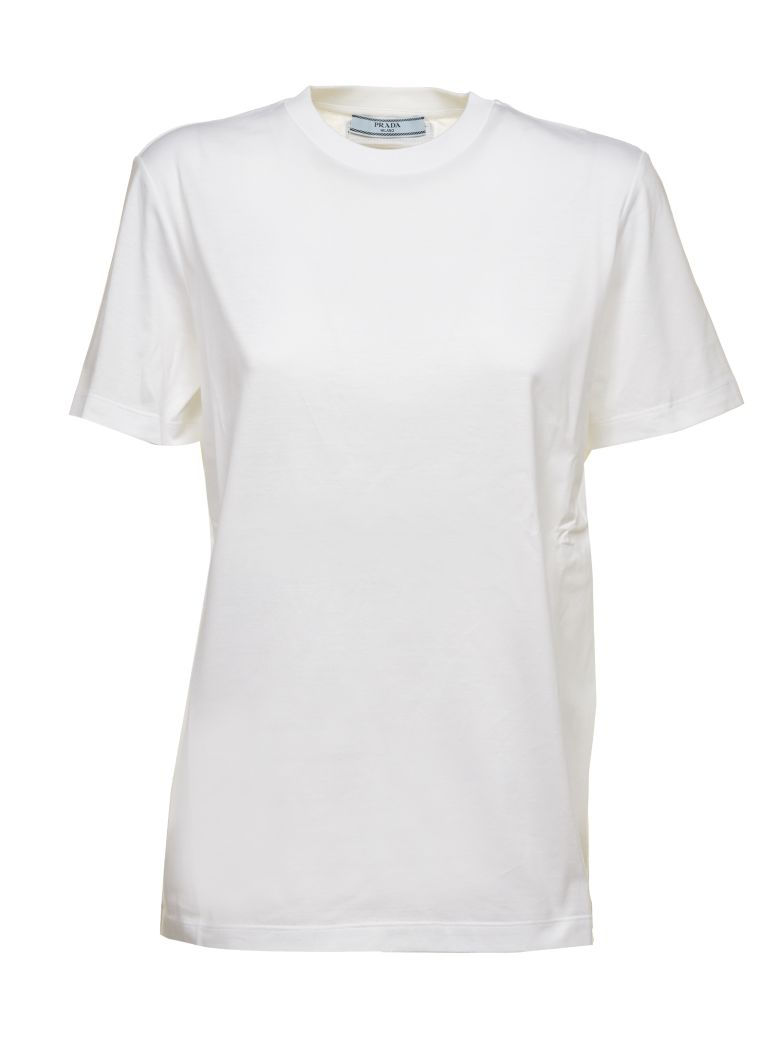 Prada Linea Rossa Logo Patch T-shirt - Bianco
