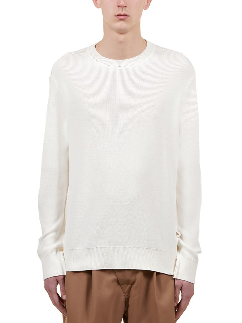 Maison Flaneur Ribbed Sweater - White