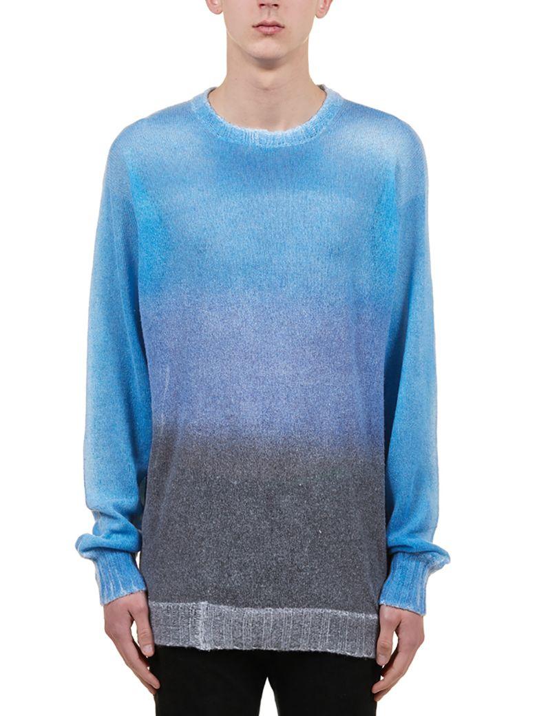 Maison Flaneur Gradient Effect Sweater - Azzurro/grigio