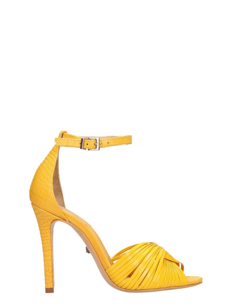 Schutz Yellow Calf Leather Sandals - yellow