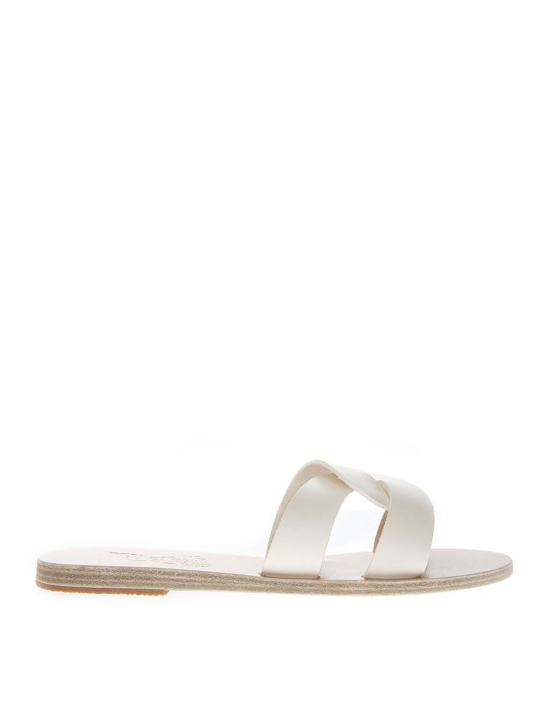 Ancient Greek Sandals Desmos Off-white Leather Sandals - Off-white