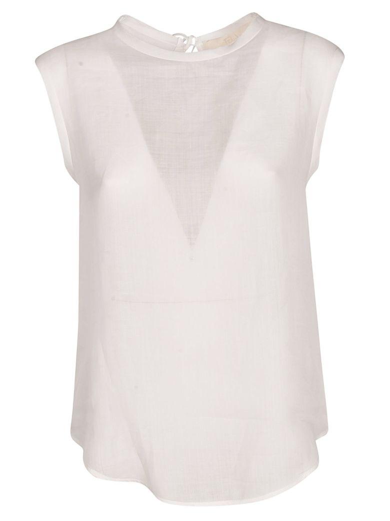 Tela Rapanello Sheer Top - White