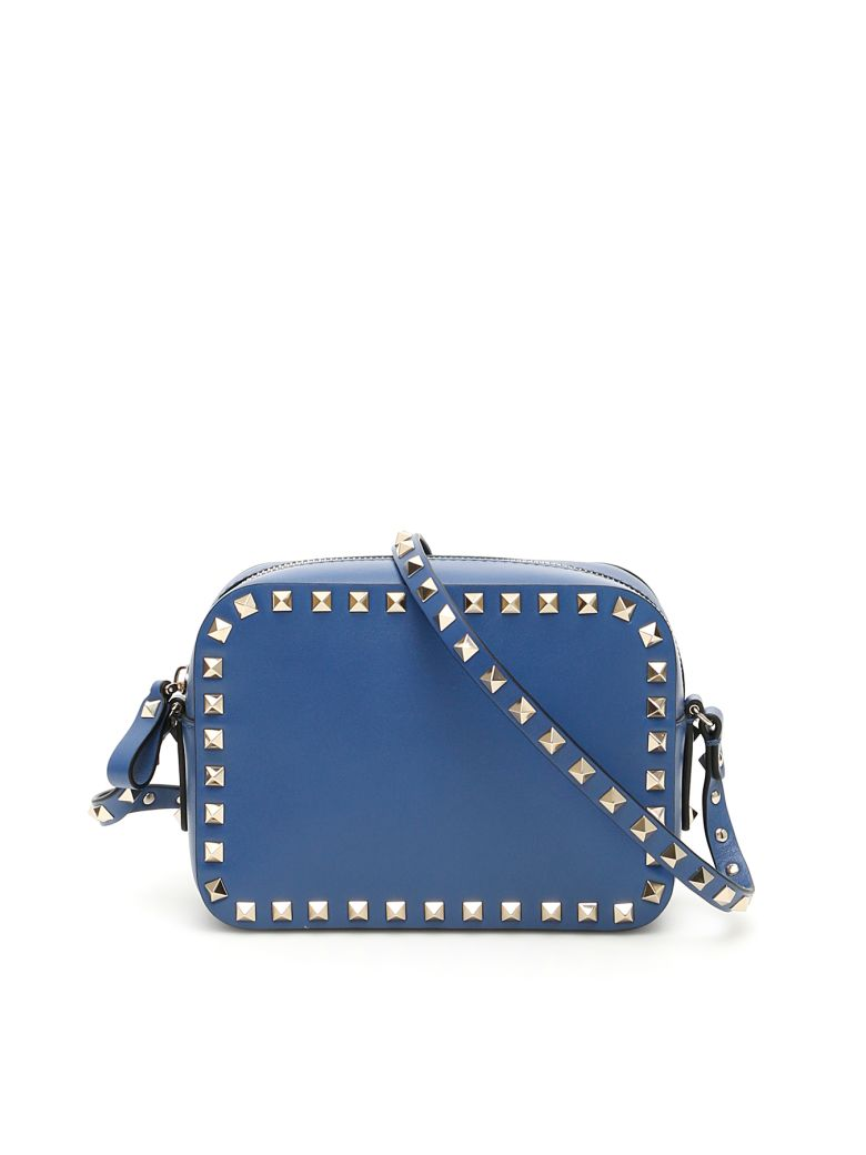 Valentino Garavani Rockstud Crossbody Bag - BALTIQUE (Blue)