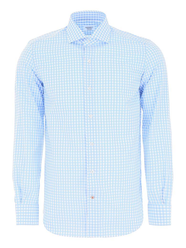 Mazzarelli Check Shirt - QUADRO BIANCO CELESTE (Light blue)