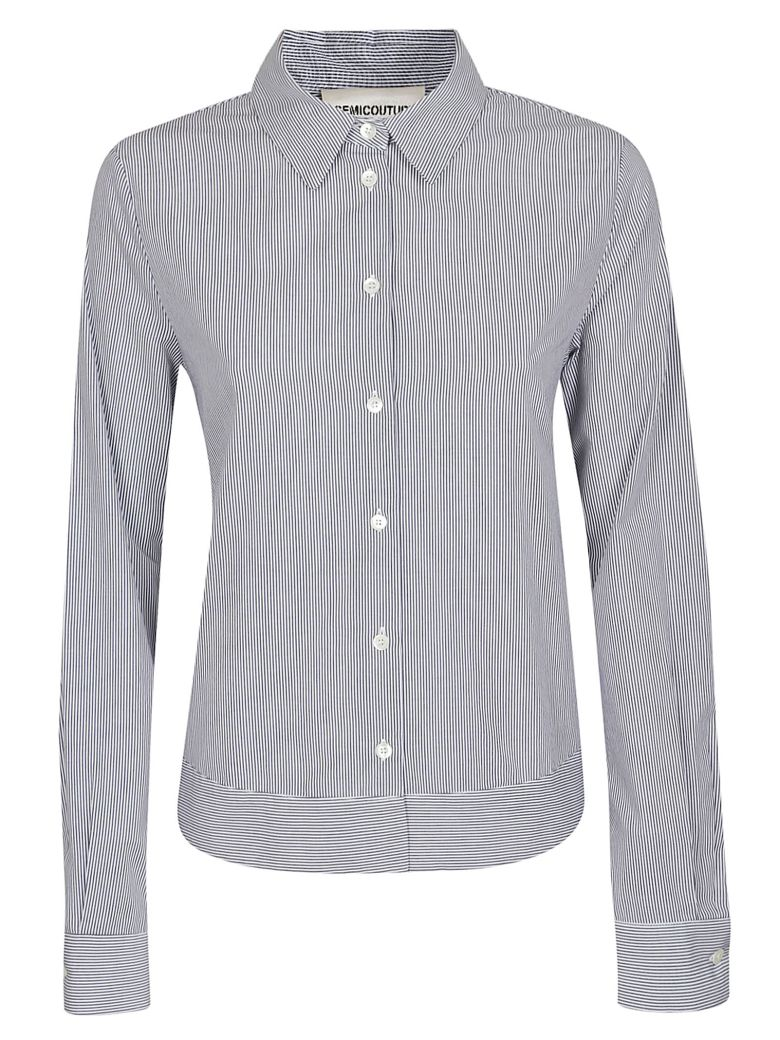SEMICOUTURE Plain Fitted Shirt - Azzurro