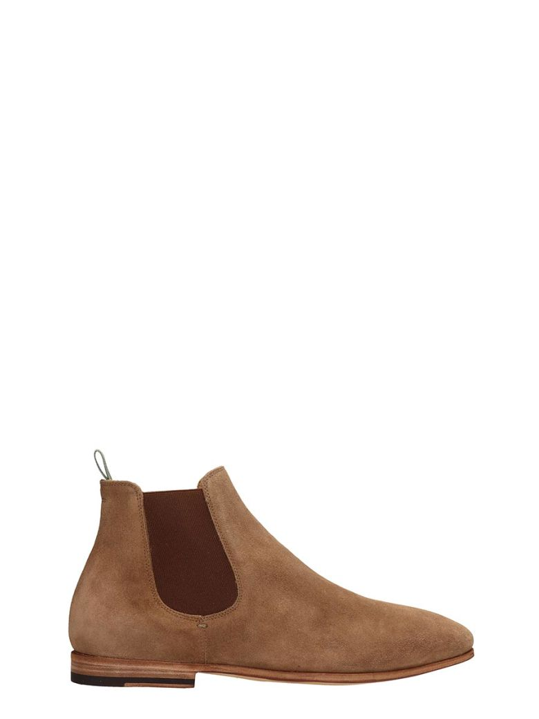 Officine Creative Light Browne Suede Revien Ankle Boots - Basic