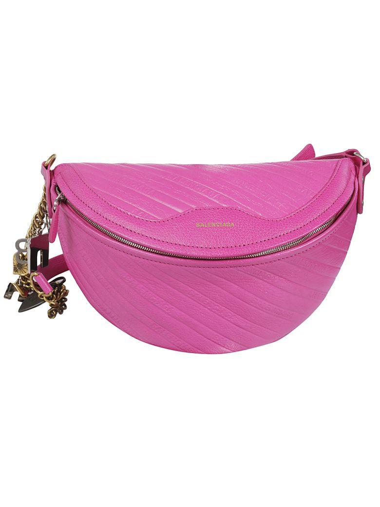 Balenciaga Extra Small Souvenir Quilted Shoulder Bag - Rose Magenta