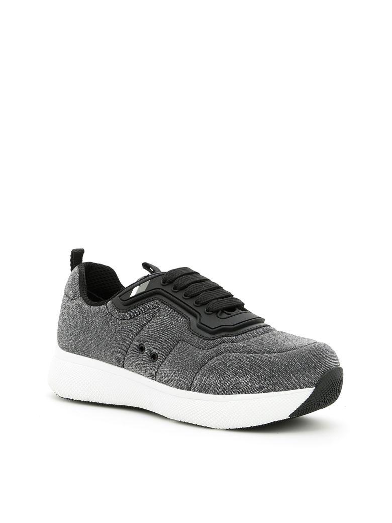 Prada Linea Rossa Tech Lurex Sneakers - ARGENTO|Metallico